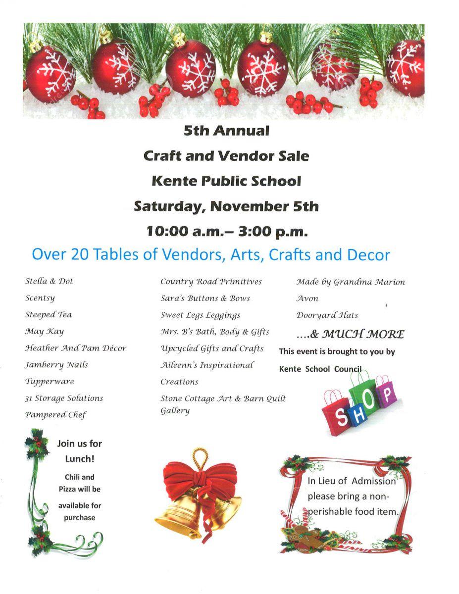 2016 5th Annual Craft  Show Invite